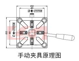 是应用气压原理将式样夹紧,一般来说手动夹具的价格没有气动夹具的高图片